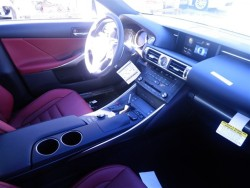 2015 Lexus IS 250 Red Interior